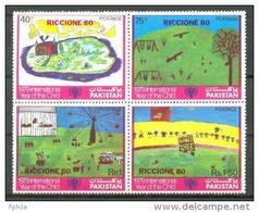 1980 PAKISTAN RICCIONE MICHEL: 522-525 MNH ** - Pakistan