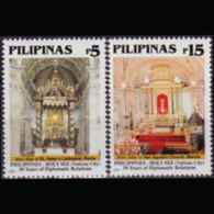PHILIPPINES 2001 - Scott# 2719-20 Churches Set Of 2 MNH - Filipinas
