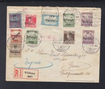 Hungary Registered Cover Baranya Overprints 1919 - Ungarn