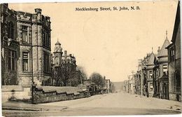 PC CANADA Mecklenburg Street, St. John, N. B. (a291) - Postcards