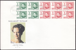 GREENLAND 1989 «Queen Margrethe Booklet» Mi# MH 1 FDC - Cacheted Covers In Perfect Condition - FDC
