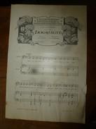 1907 Partition(s) Musicale(s) : IMMORTALITE ; PAVANE MELANCOLIQUE - Partitions Musicales Anciennes