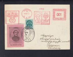 Hungary  PC 1941 Special Cancellation Grof Szechenyi - Ungarn