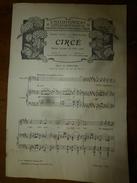 1907 Partition(s) Musicale(s) : CIRCE  (poème Lyrique En 3 Actes) - Partitions Musicales Anciennes