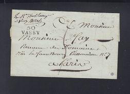 Lettre 1809 Vassy - Marcophilie (Lettres)