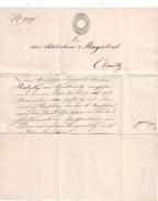 SALZBURG Urkunde 1848 Nach Olmütz, Franco, Stempelmarke - Autriche