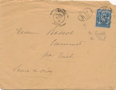 Lettre Sage Boghari + BM Guelt Es Stel Algérie Signé Chevalier - 1877-1920: Semi Modern Period