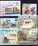 Kiribati 1994 - 2000 Six Exhibition Specimen Minisheets MNH - Kiribati (1979-...)