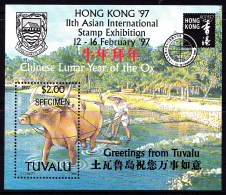 Tuvalu 1997 Hong Kong '97 Asian Stamp Exhibition Specimen Minisheet MNH - Tuvalu (fr. Elliceinseln)