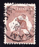 Australia 1929 Kangaroo 6d Chestnut Small Multi Wmk - KYABRAM, VIC - Used Stamps