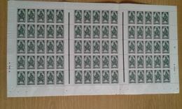 Haute Volta N° 43 Neuf Gomme Coloniale En Feuille Complète (pliée En 3) De 75 Timbres - Haute-Volta (1920-1932)