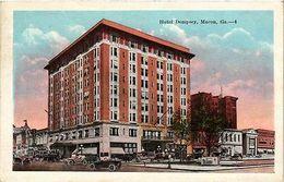 Macon Georgia Hotel Dempsey Vintage Postcard (a854) - Postcards