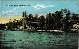 Ludington Michigan Piney Ridge Hotel Vintage Postcard (a857) - Postcards