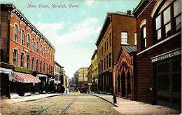 PC USA Main Street, Norwich, Conn. (a784) - Postcards