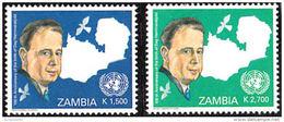 Zm0969 Zambia 2005, SG969-70, Birth Centenary Dag Hammarskjold, 2 Value Set - Zambia (1965-...)