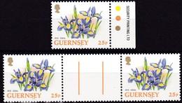 Guernsey, 1994, 634 A , Blumen, Flowers, MNH **, Gutter Pair - Guernsey