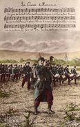 """1915)  COURRIER  DE SOLDAT -REGIMENT  Nommé  - PARTITION ET PAROLES  """"LA CROIX D'HONNEUR"""" -MESARGE EDITEUR CPA 437 - Guerra 1914-18"""