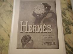 ANCIENNE PUBLICITE MONTRE HERMES COMPAX 1940 - Autres