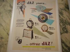 ANCIENNE PUBLICITE PENDULE JAZZ PLAIRA - Bijoux & Horlogerie