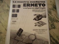 ANCIENNE PUBLICITE MONTRE ERMETO - Bijoux & Horlogerie