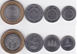 Cambodia - Set 4 Coins 50 100 200 500 Riels 1994 UNC Lemberg-Zp - Camboya