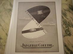 ANCIENNE PUBLICITE MONTRE JAEGER LE COULTRE 2 MONTRES - Autres