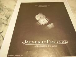ANCIENNE PUBLICITE MONTRE JAEGER LE COULTRE PRECISION 1937 - Bijoux & Horlogerie