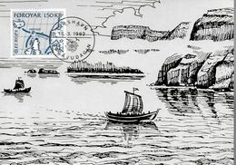 FEROE  Carte Maxi 1982  Bateaux Vikings Europa - Histoire
