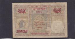 Billet Maroc 500 Fr 17 Avril 1956 KM 46 TTB - Maroc