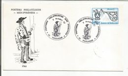 OBLITERATION EXPO POSTIERS PHILATELISTES MIDI PYRENEES à TOULOUSE 1977 - Commemorative Postmarks