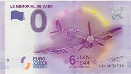 BILLET TOURISTIQUE 2016 LE MEMORIAL DE CAEN BATAILLE DE NORMANDIE AVION TYPHOON - EURO