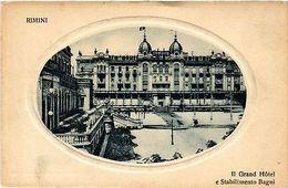 CPA Rimini Il Grand Hotel E Stabilimento Bagni. ITALY (449173) - Rimini