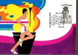 USA  Carte Maxi 1984 Jim Thorpe Football Americain - Francobolli