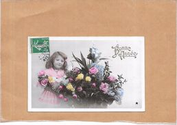 CPA COLORISEE FETE - BONNE ANNEE - Adorable Petite Fille   - ROY17/ENCH - - Nouvel An