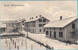 DRVAR In Snow - Koloniestrasse ( Bosnia And Herzegovina ) * K.u.K. Militarypost *  Travelled 1916. To Czech Republic - Bosnia And Herzegovina