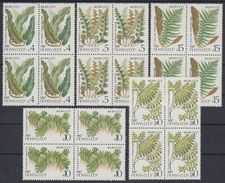 USSR Russia 1987 Block Plants Ferns Nature Fern Wild Plant Stamps MNH Michel 5729-5733 SG 5773-5777 Sc 5572-5576 - Plants