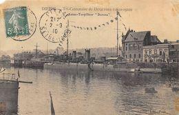 """76-DIEPPE- AVISO- TORPILLEUR- """" DUNOIS"""" TRI CENTENAIRE DE DUQUESNE 1610 1910 - Dieppe"""