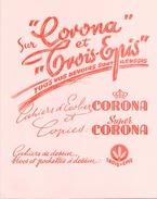 """France Buvard Cahiers D""""écolier Corona ( Pliure )  21 Cm X 16 Cm - Papeterie"""