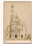 DEBITTE & HERVE , PARIS - Photo  Format Cabinet - L'Eglise Saint Etienne - Photos