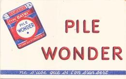 France Buvard Piles Wonder ( Pliure , Taches ) 20 Cm X 13 Cm - Piles