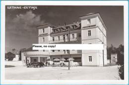 CETINJE - Grand Hotel ( Montenegro ) * Old Car - Automobile - Oldtimer * Travelled 1940. To Osijek - Montenegro