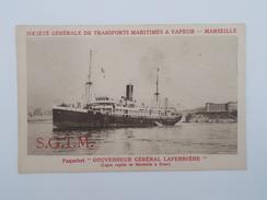 """Carte Postale - Paquebot """"GOUVERNEUR GENERAL LAFERRIERE"""" - Bâteau - Société Générale Transports Maritimes à Vapeur(1727) - Paquebots"""
