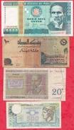 Pays Du Monde 8 Billets 4 Dans L 'état  3 état Moyen Et 1 Usagé Lot N °79 - Monete & Banconote