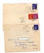 3 Lettre Cachet Lorgues Sur Paix Semeuse - Postmark Collection (Covers)