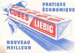 France Buvard  Cubes  Liebig ( Pliure, Taches ) 20 Cm X 14,5 Cm - Soups & Sauces