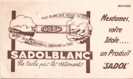 France Buvard Sadolblanc (pliure, Tache ) 20,5 Cm X 12,5 Cm - Blotters