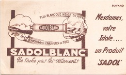 France Buvard Sadolblanc (pliure, Tache ) 20,5 Cm X 12,5 Cm - C