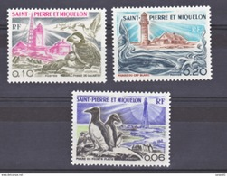 Saint Pierre Et Miquelon  445 447 Phares  Neuf ** MNH Sin Charmela Cote 14.2 - Vuurtorens