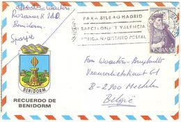 Benidorm - Letter Card 1977 - Alicante
