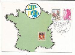 OBLITERATION 20 ANS UPPTT GROUPE RHONE LYON 1982 - Commemorative Postmarks